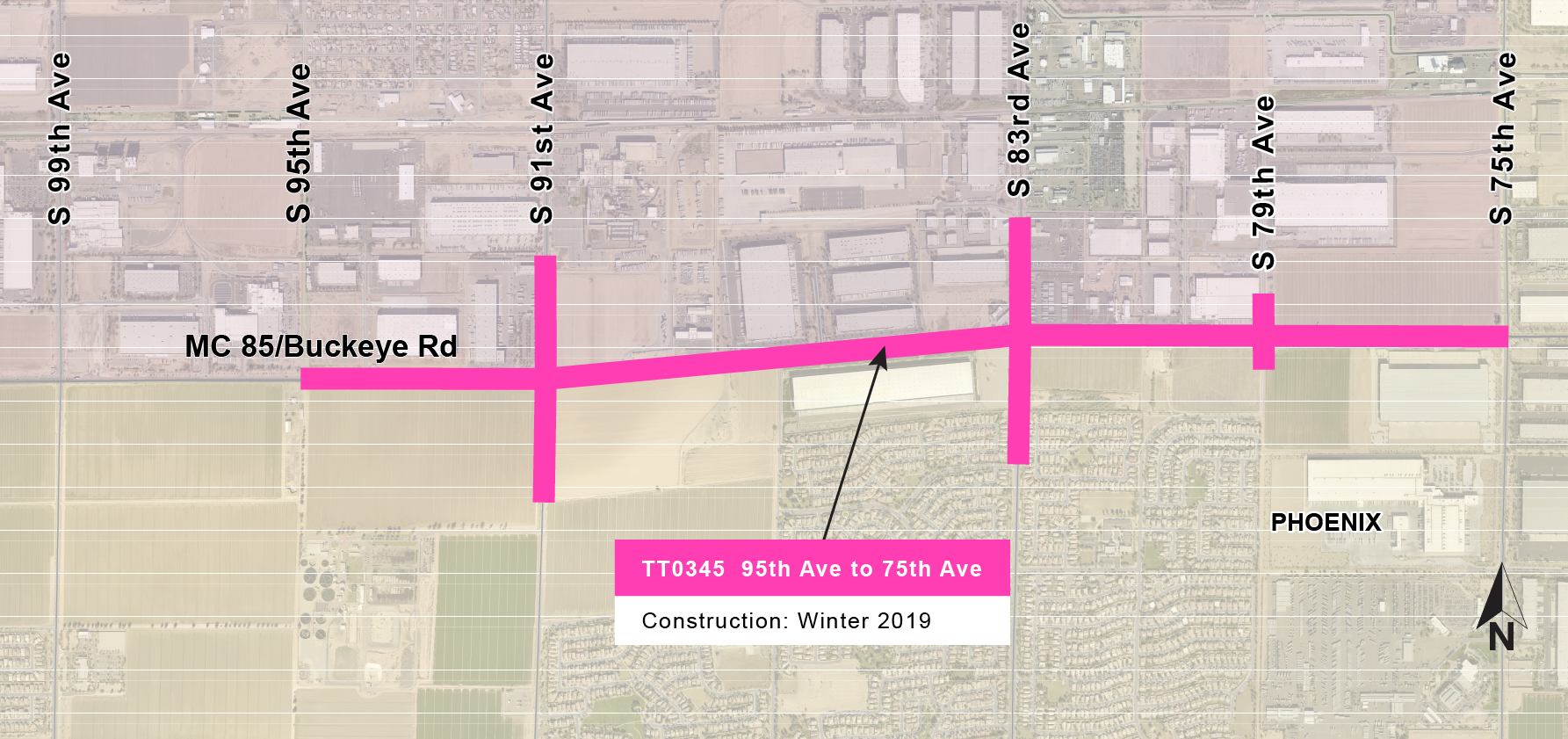 MC 85 95th to 75th Ave Map