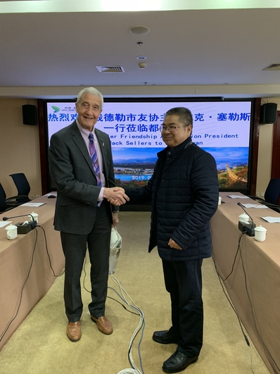 Mayor of Dujiangyan, China