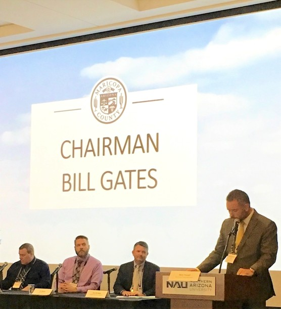 Chairman Gates sits on a panel at the 2019 Environmental & Sustainability Summit