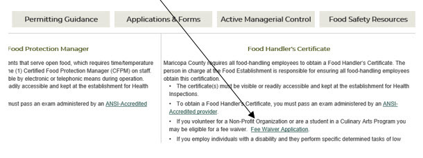 Fee Waiver Application Link