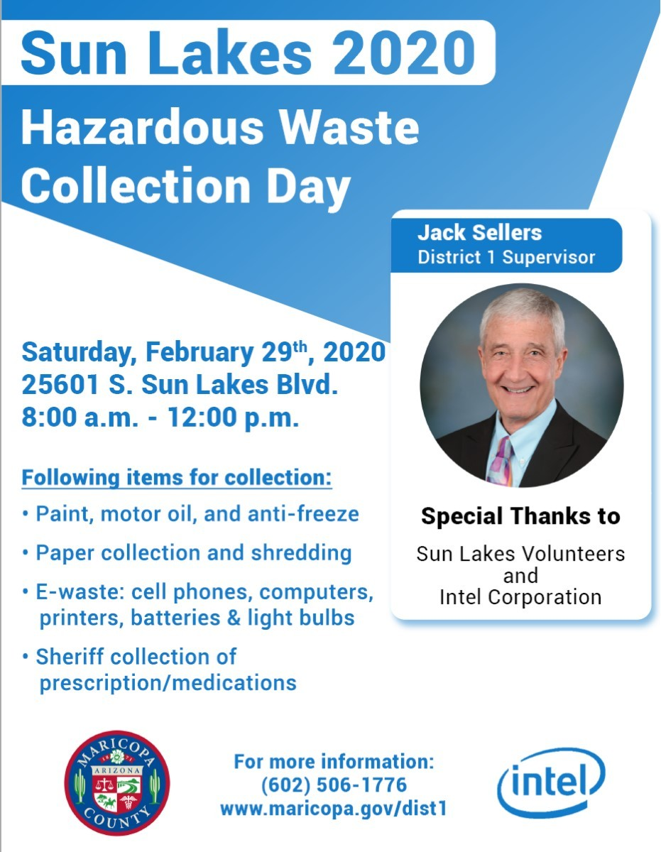 Sun Lakes Hazardous Waste Collection