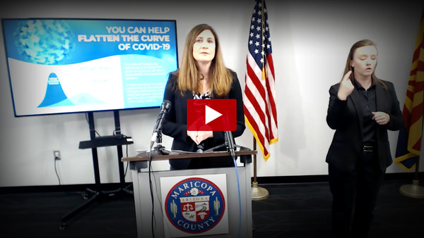 Maricopa County Epi Curve: Press Conference with Dr. Sunenshine