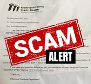 Public Health Letter Scam Alert