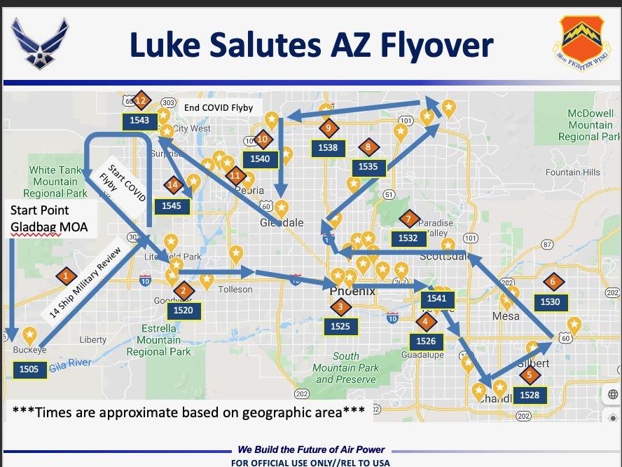 Luke flyover route