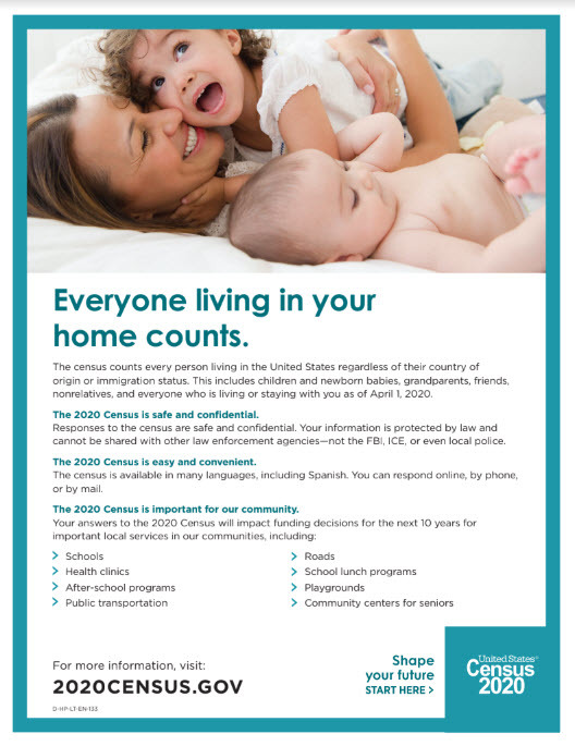 Census - Everyone at home counts