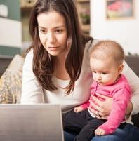 Census Mom on laptop
