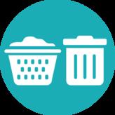 Launder or trash