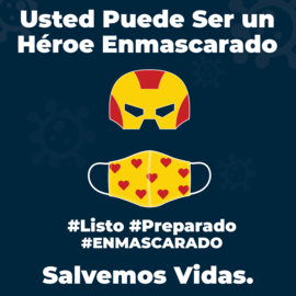 Masked Hero Graphic - Spanish