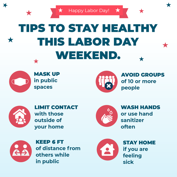 Stay Healthy this Labor Day Weekend