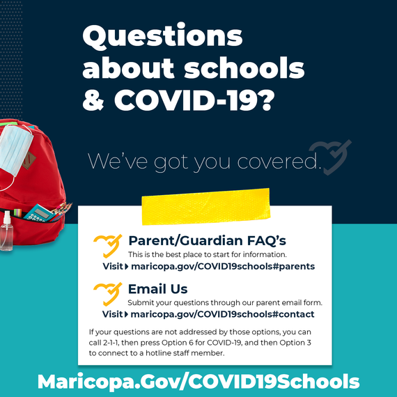 Questions about schools and COVID-19?