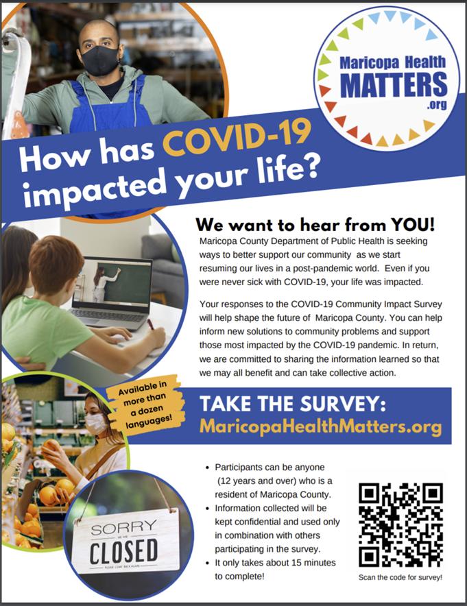 COVID-19 Survey Flyer