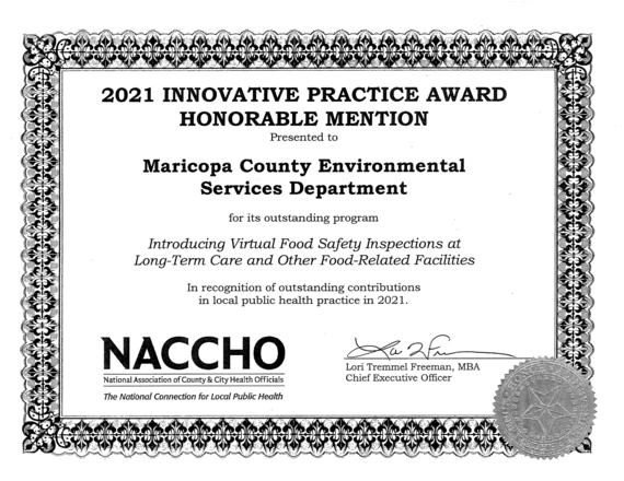 NACCHO Certificate