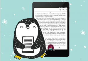 Penguin and e-reader