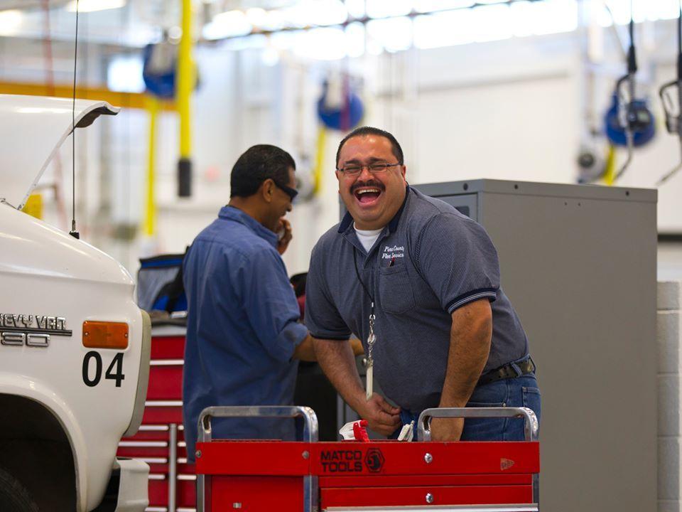 Employees having fun