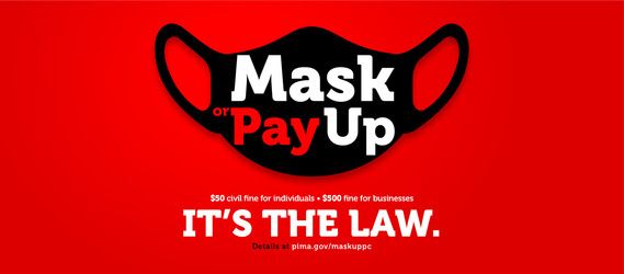 Mask up graphic
