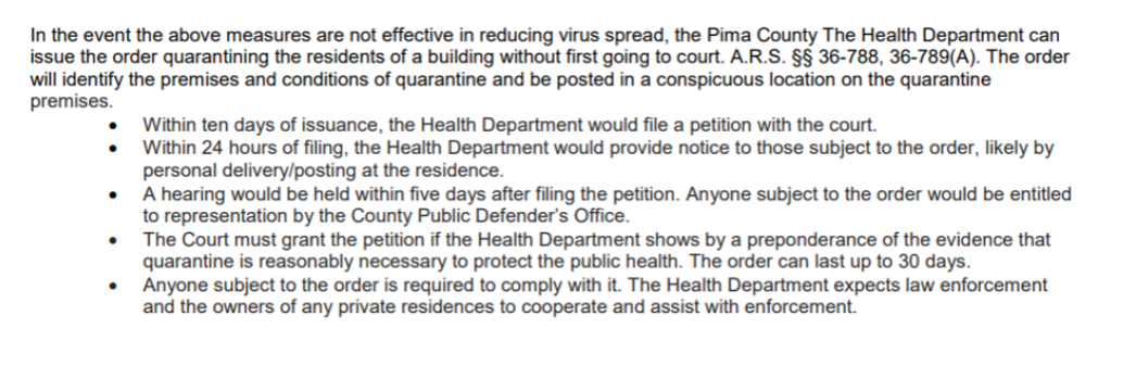 pima quarantine