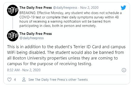13. Daily press tweet