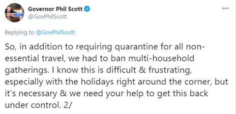 Governor Tweet