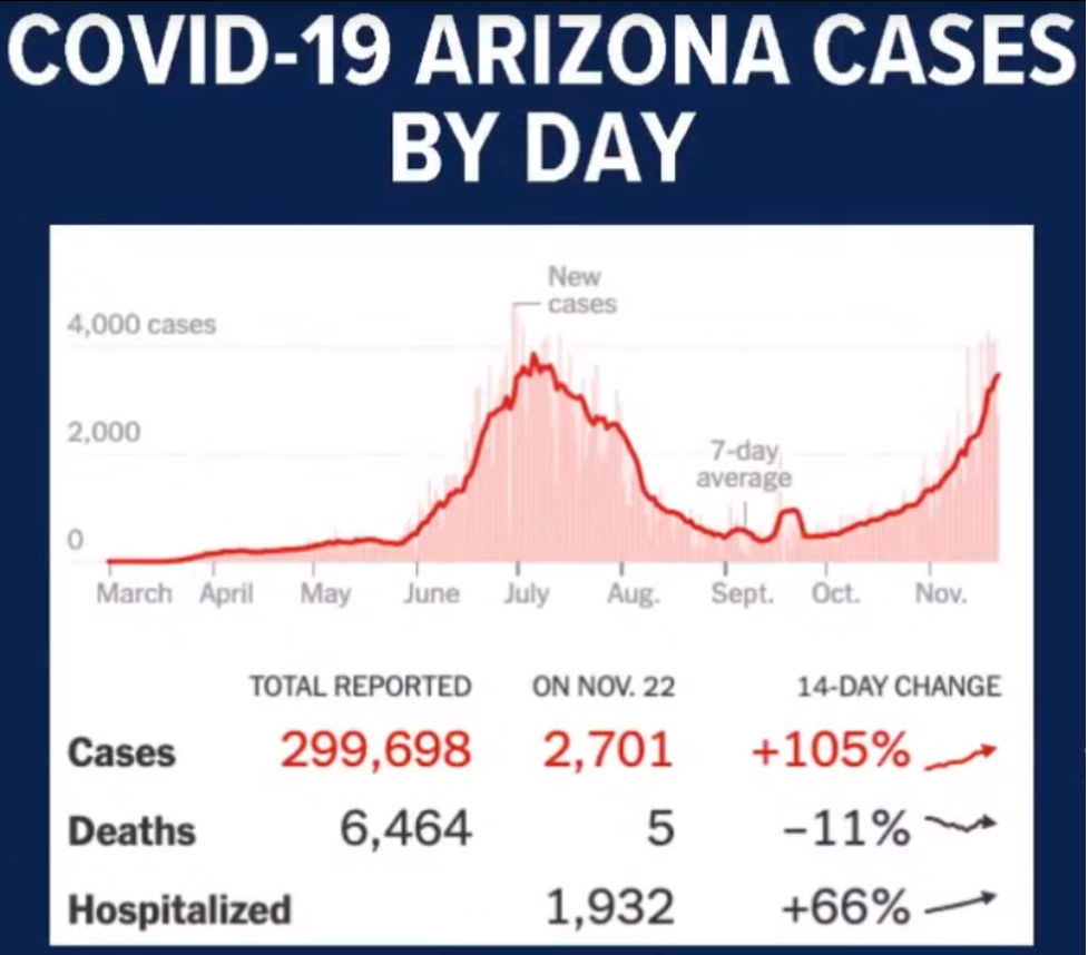 AZ Cases by Day