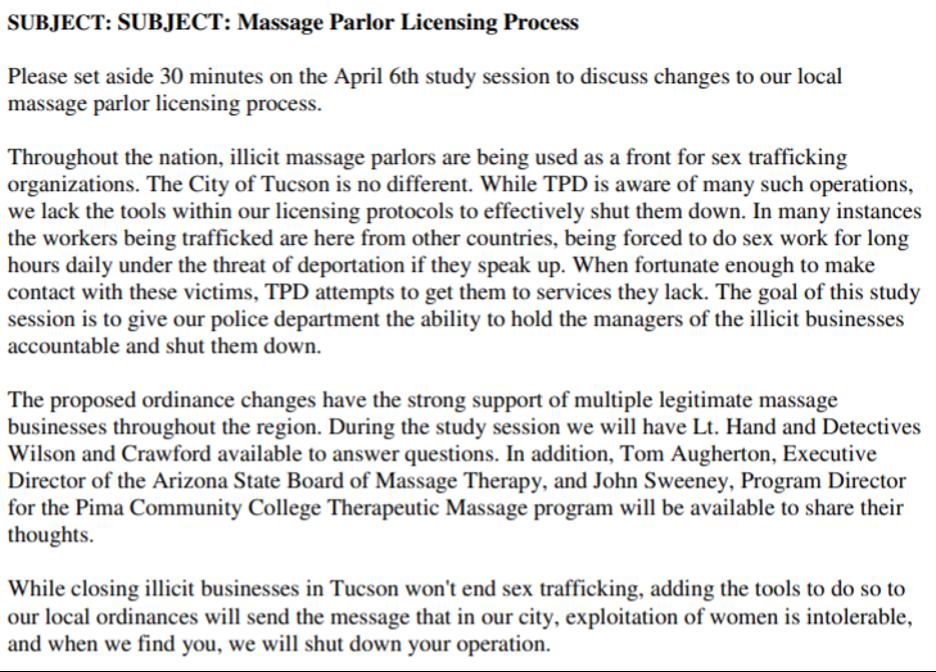Massage Parlor License Process
