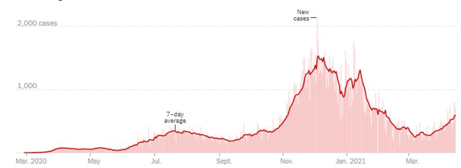 COVID Graph March