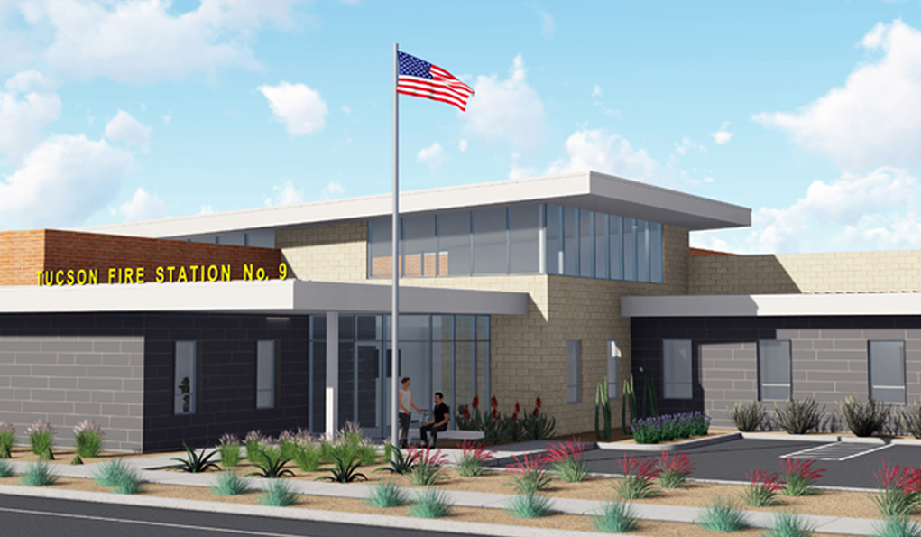 Design Rendering of Fire Station 9