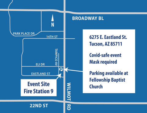 Fire Station 9 & Event Parking Map