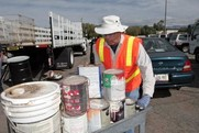 Household Hazardous Waste - Man with Paint cans