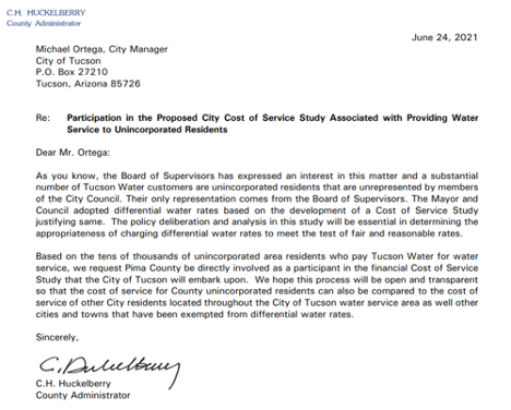 Water service letter