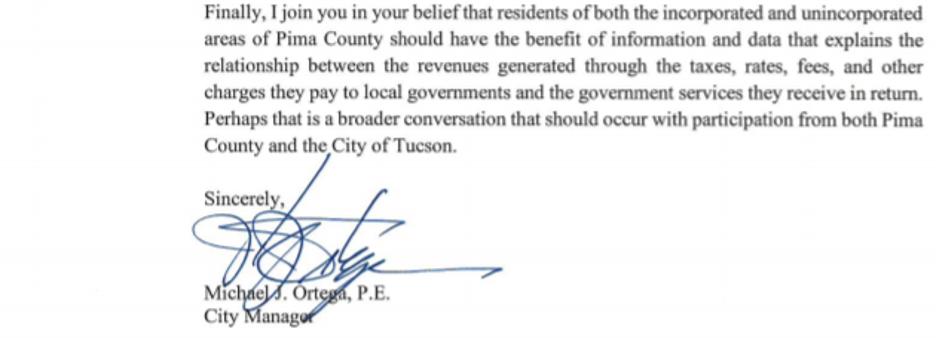 Letter Ortega