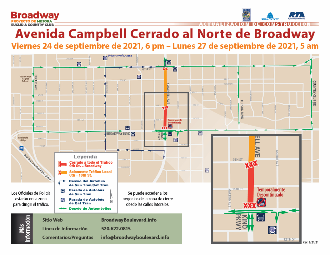 Broadway-Campbell North Side Closure 09.24.2021 SPN