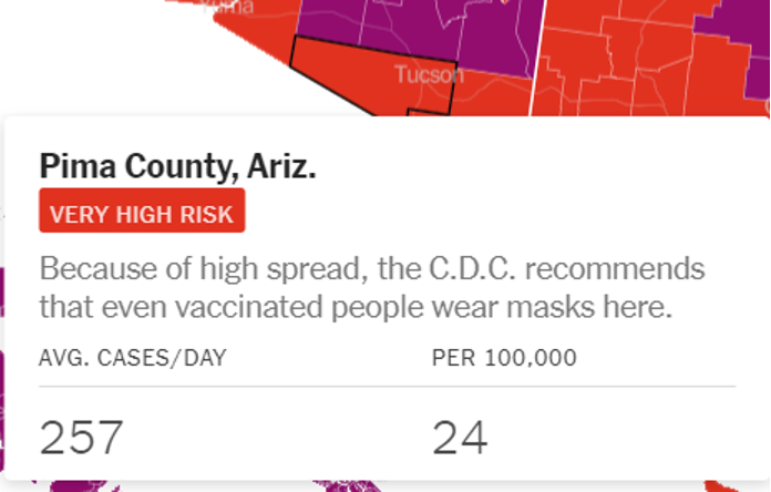Pima Co Risk Numbers