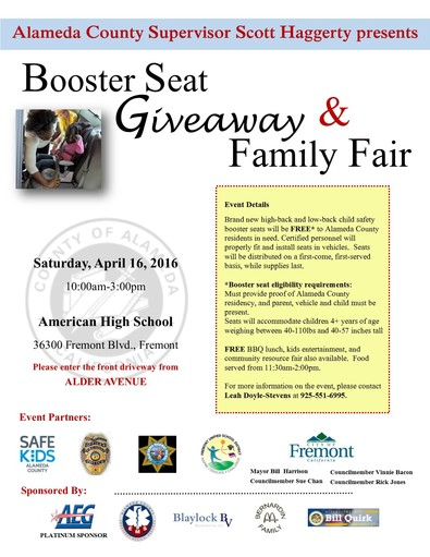 Booster Seat Giveaway & Family Fair