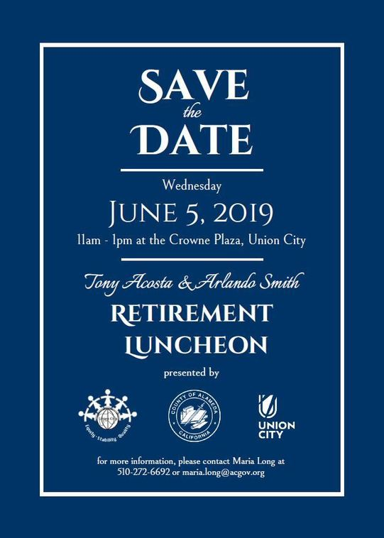 Tony and Arlando Retirement Save the Date
