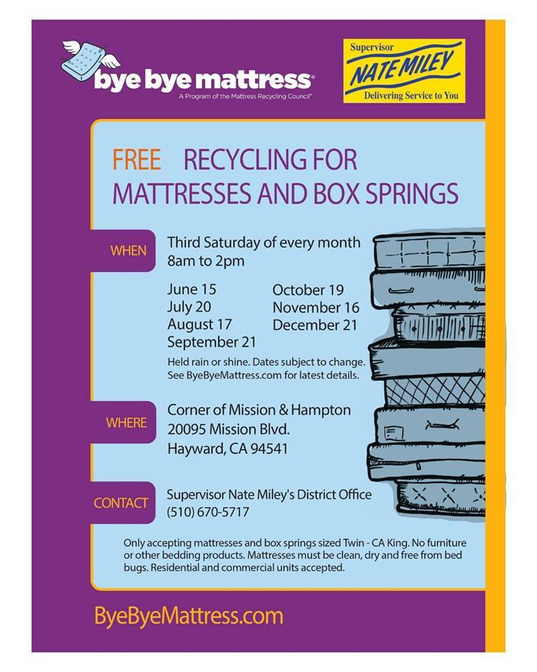 Matress Recycling events