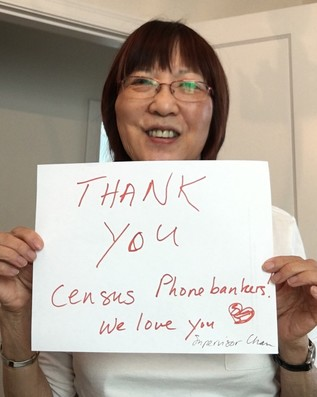 Thank You Census Phonebankers from Wilma Chan