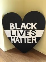 Black Lives Matter Heart