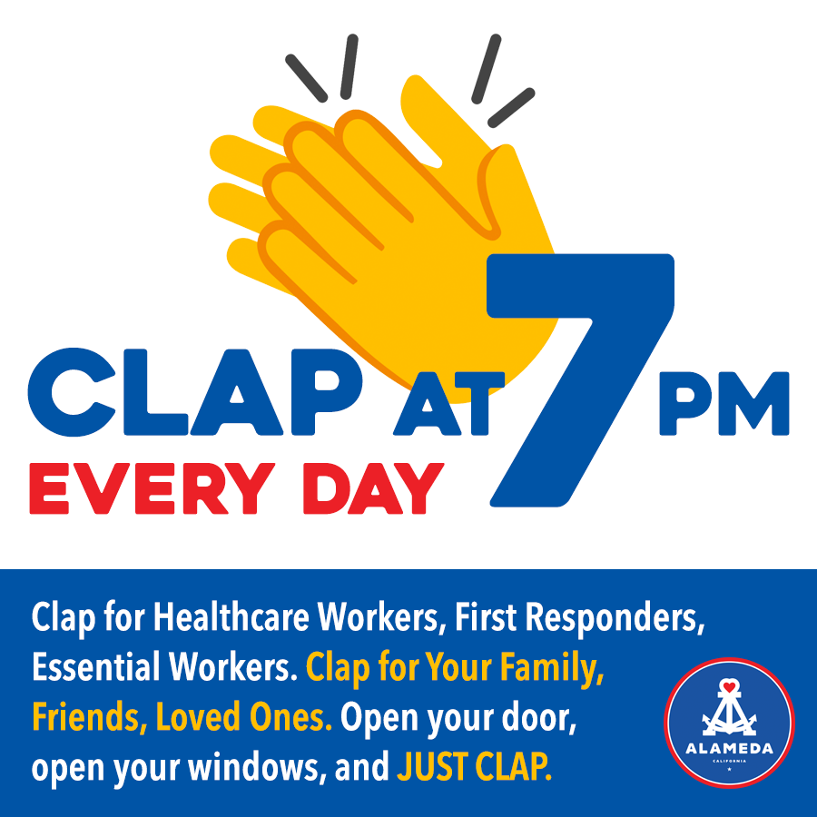 clap at 7pm every night!