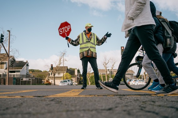 Crossing Guard w Mask - by Maurice Ramirez