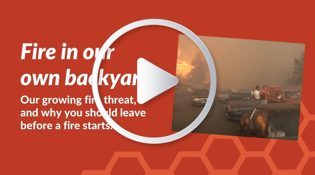 Video thumbail: fire in our own backyard