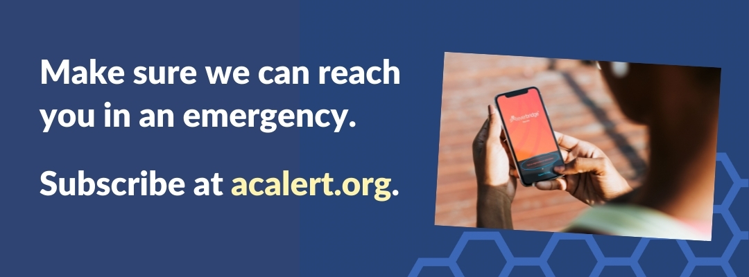 Subscribe to AC Alert emergency notifications