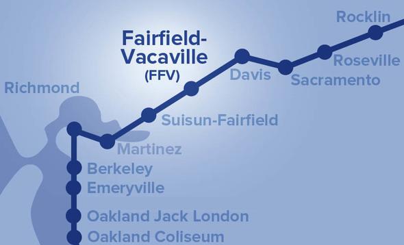 Fairfield-Vacaville Station Map