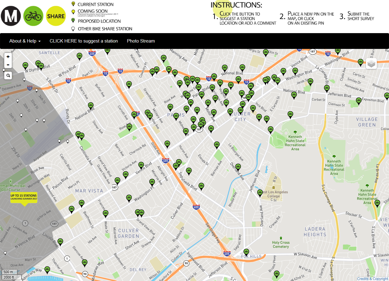 Metro Bike Share Crowdsouring Map