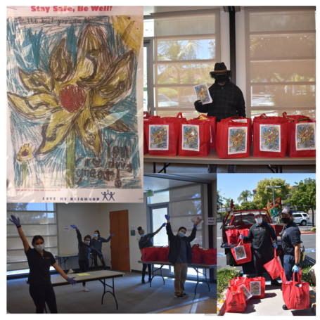 Culver City Artist Laureate and City Staff Attach Art for Emergency Art Drive