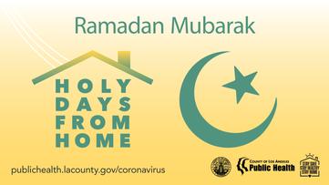 Ramadan Mubarak Holy Days From Home Public Health Moon and Star