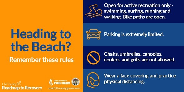 Remember: open for active recreation only, parking limited, no chairs, umbrellas, canopies, cooler, or grills. Wear face covering.