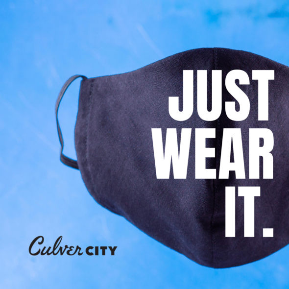 Just Wear It. Image of a cloth face covering.