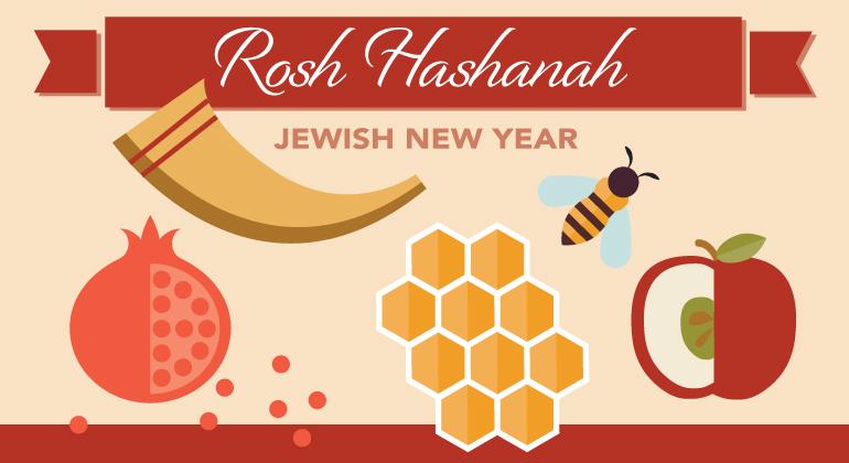 Rosh Hashanah Jewish New Year images of food