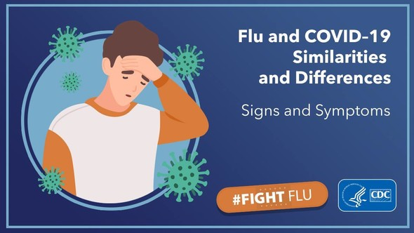 Flu and COVID-19 Similarities and Differences Signs and Symptoms #FightFlu