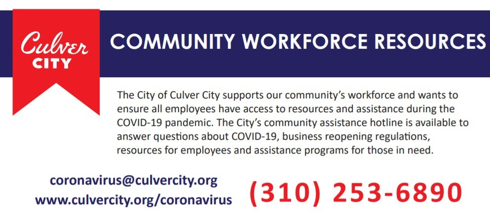 Community Workforce Poster Header Image; the City supports our community's workforce and wants to ensure all employees have access to resources
